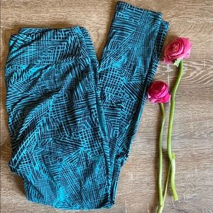 Lularoe legging pants tall and curvy TC EUC teal